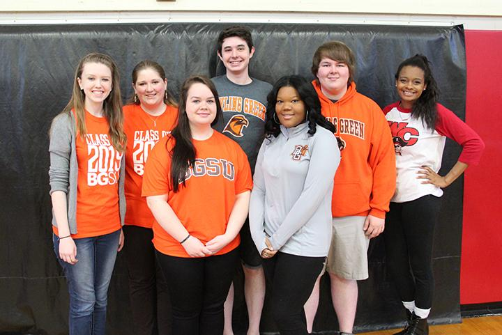 Preston Smith (pictured second from the right) is an alumnus of WCHS and The Hook. Above, Smith shows his Bowling Green pride on Signing Day 2015. Smith, last year's Features Editor, is a first-year student at BGSU and is pursuing a degree in English.