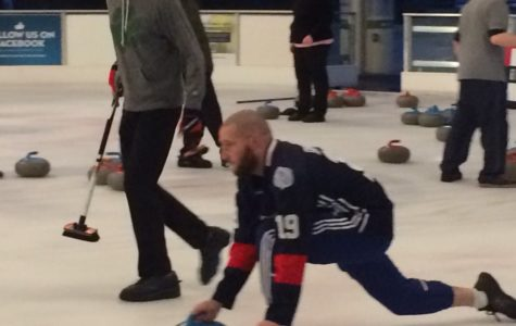 Hazelrigg. He's curling now.