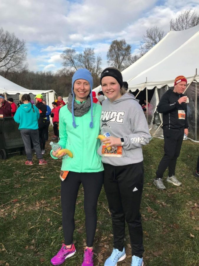 Ms.+Parks+and+WCHS+alumni%2C+Gracie+Johnson%2C+at+the+Turkey+Trot+in+Miamisburg.+