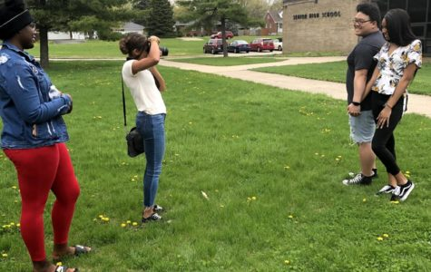 Seniors Melayna Melton, Jordan Ma, Janae Applin, and Tempest Arnold are out and about taking pictures for senior superlatives. This is a farewell tradition to mark seniors that stand out in among their peers to recieve recognition.