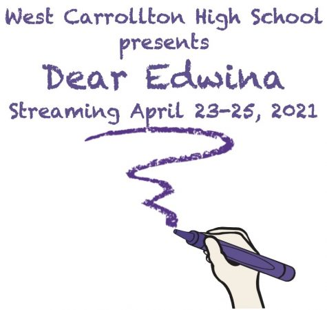 "The WCHS Spring Musical is ""Dear Edwina"" and will be performed virtually this year! Purchase tickets online for performances April 23 at 7 pm, April 24, at 7 pm, and April 25, at 2 pm."