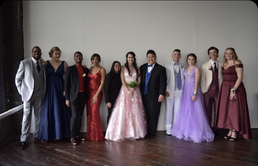Seniors from the Class of 2019 pose before their Prom. Due to COVID-19. the Class of 2020 did not have a Prom. The junior and seniors this year will get to have a Prom, while observing some social distancing guidelines.